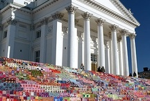 Yarnbombs! / For the yarnbomber in all of us. It's art, not litter people.