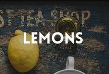 When life gives you lemons / ... make lemonade. Products, ideas, recipes, fruits - everything with lemons!