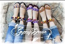 Gypsy Dream / The Gypsy Dream Collection symbolizes carefree adventures and kaleidoscope dreams. The sandals are designed to romp stylishly, frolic freely or travel comfortably whichever way you please.