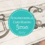 Scrapbooking & Card-Making Sketches / Use these sketches for inspiration. Use your own creativity to create cards and layouts based off of these Layout/Card Sketches. #Cards #1pagelayouts #2pagelayouts