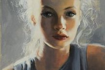 """Art Faces  and Figures / """"When I saw you, I fell in love. And you smiled, because you knew."""" Arrigo Boito / by Corne C"""