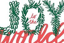 Christmas / christmas design inspiration for decor and stationery