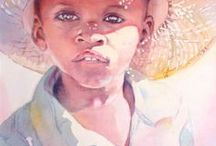 """Art Mothers and Children / """"And though she be but little, she is fierce.""""     Shakespeare. / by Corne Jooste"""
