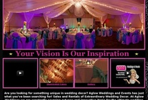 AGLOW WEDDINGS & EVENTS / Sales & Rentals of Extraordinary Wedding & Event Decor. Serving Kamloops and the B.C. Interior, Canada. www.AglowWeddings.com / by AGLOW BRIDAL LOUNGE