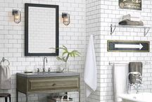 Build a Better Bath / Customize the look of any bathroom design with coordinating and quality-made lighting, hardware, sinks, tubs, shower sets, consoles, towels, and decor for a complete and calming bath. / by Rejuvenation