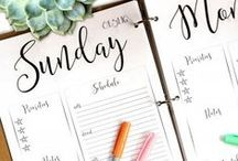 planner love / an inspiration board for the cutest and craftiest way to stay organized - planners!