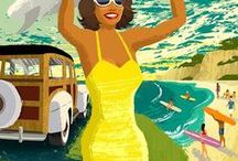 ♥ Retro Posters / A collection fo the best Retro Travel Posters and Vintage Ads about Destinations, Countries, Citie, National Parks and Transport ✈ Find More on: thetraveltester.com/category/vintage-travel ✈