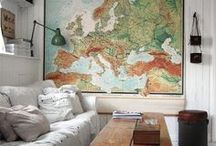 STYLE - Map the World / Map the World Travel Style Fashion and Home Decor >> Maps. Globes. Murals << Curated by The Travel Tester [thetraveltester.com]