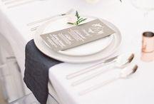 wedding | reception / table settings | head table