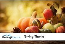 Giving Thanks / by Meritage Homes