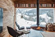 STYLE - Mountain Retreat / Mountain Retreat Travel Style Fashion and Home Decor >> Wooden Cabin. Rustic. Mountains. Winter Warm << Curated by The Travel Tester [thetraveltester.com]