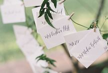 wedding | escort cards / place cards | escort cards | table #'s