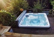 Hot Tub Ideas / Real Hot Spring hot tub installation photos will give you inspiration for your backyard. Real homes, and real possibilities. Picture yourself here today!