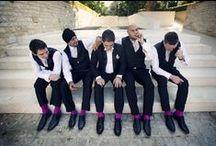 ~ Groom & Groomsmen ~ / Ideas for the groom & his boys.   Grooms suits, groomsmen attire, Grooms accessories.