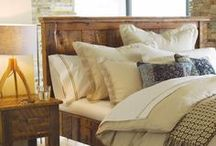 """rustic chic / Rich influences of the past are woven into pieces created by today's most relevant artisans who meld a fresh, sustainable aesthetic with rustic design sensibilities. Start with the bedroom, infusing this space with life, vitality and story rooted in history and inspired by the use of available, localized, """"of the land"""" materials."""