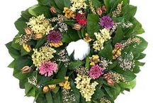 Organic Summer Outdoor Wreaths