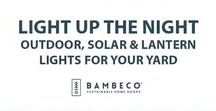 Light up the Night: Outdoor, Solar & Lantern Lights for your Yard / Light up your night with energy from one of Earth's most plentiful resources: the sun. Shop our beautiful collection of outdoor solar string lights and lanterns…no cord or batteries required!