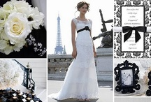 Black & White Wedding Theme / Classic black and white makes for a sophisticated affair.  It's also one of the easiest color schemes to work with as color matching is very easy and many beautiful flowers are available in white!