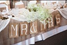 Burlap (Jute) Wedding Details / Inexpensive burlap fabric is gaining popularity as a rustic wedding accent.  Here are some fun ways to incorporate this budget-friendly fabric into your wedding.