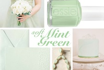 Mint Green Wedding Ideas / Mint green will be a stong color trend for 2013 weddings. Mint combines well with many colors including pink, blue & coral, gold, ivory and blush. Check out some of our favorite ideas for incorporating mint green into your wedding day.