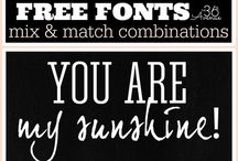 Fonts / Fonts helps to tell your story. On this board, you will find a variety of fonts and learn how to combine them!