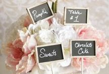 Chalkboard Wedding Decorations / Fun ways to incorporate the latest chalkboard trend into your wedding decorations!