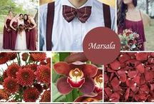 Marsala Wedding Ideas / Marsala is a romantic, sensual color that is darker than most Spring colors, yet it can easily be brightened up with pinks, greys and peaches. 2015 Wedding Trend