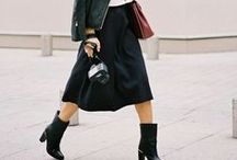 Street style - midi skirts / Inspiring street style images of stylish people around the world.