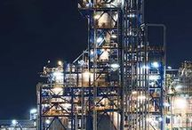 Oil Refineries / The bustling core of industry making products used in everyday plastics to powering entire cities.