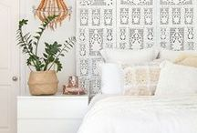 Guest Cottage Decor / white and bright feminine bohemian style
