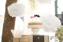 Party idea ❤ Moustach & Bow / baby shower