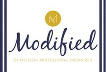 modifiedbymelissa.com / Organizational ideas for areas in the home, such as craft room, closet, kitchen. DIY projects. Tips for moving prep and relocation.