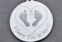 Miscarriage & Infant Loss Remembrance Jewelry by My Forever Child / Remembering your precious baby gone too soon with Personalized Miscarriage Charms, Pendants, Necklaces, Bracelets. Personalized Stillbirth and Infant Loss Memorial Charms, Pendants, Key Chains, Necklaces. Solid Sterling SIlver for heirloom quality keepsakes