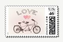 Pretty Little Postage Stamps / A collection of unique postage stamp designs to dress your invitation mailings up!