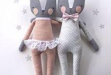 softies&dolls / handmade soft toys, rag dolls for girls