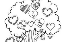Valentine's Coloring Pages / by S Cooper