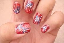 4th of July Hair & Nails