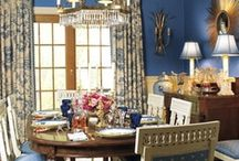 blue dinning rooms / by Beth O'Donnell