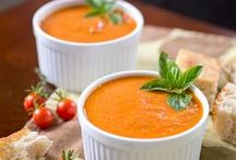 Soups & Salads / Start your meal off right with a bowl of warm soup or a nice crunchy salad! www.sweetteasweetie.com