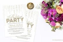 Bachelorette Parties / A collection of stylish bachelorette party invitations & ideas for a successful night out.