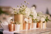 Tin Can Wedding Decoration Ideas & Inspiration / Ideas, inspirations & projects for using rustic tin cans in your wedding.
