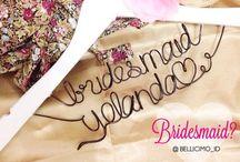 Bellicimo Hangers Name - Wedding Souvenirs, Personalized Bridesmaid Favors / Bellicimo Hangers  Bellicimohangers@gmail.com