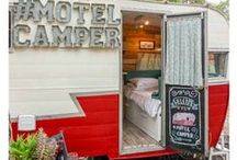 Camper/RV Makeover / This is where I store all the great camper to glamper revamp projects that are out there. Because a camping trailer or an RV can still look classy, not just functional. Glamper, glamping.