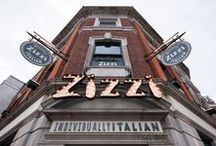 Zizzi Kingston / Only 5 minutes from the nearest train station, our Kingston restaurant is the perfect place to stop off for anyone travelling down the Thames. The interior of the restaurant is a royal theme with a Zizzi twist. Set over two floors, our Kingston restaurant with its large windows really makes the most of the outdoor vibe that the town is known for. A section the second floor has been filled in to make the most of the upstairs space for parties and large bookings.