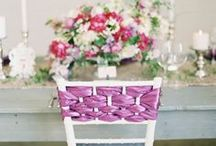 Chair Ties / Did you know that Party Reflections has Chair Ties? Tie them, drape them or designate reserved seating with them, regardless Chair Ties add the pop of color that brings your theme together!