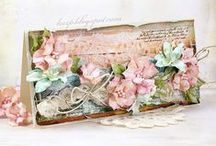 Cards I Love / Vintage, altered and shabby look, lots of embellishments, layers and distress :)