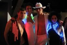 Light Up Costumes / Shots of inspirational light up costumes you CAN make yourself if you get in touch with your imagination & inner fashion designer. We'll supply ya with the LED lights! :D