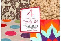 LOS 4 PASOS DC / Si tenes ideas y te hace falta un detalle de diseño para el cambio, los 4 pasos DC son la solución. En DC elegís la textura, elegís el diseño, elegís la medida, elegís los colores y nosotros desarrollamos la alfombra de tus sueños. www.designcarpets.com.ar