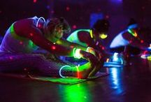 Glow Yoga & Fitness Lights / Get in shape and light up your routine! LED Fitness Gear Accessories keep you seen during your night moves, be it biking, jogging, 5K night runs, hiking, climbing, glow yoga even, you name it!