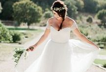 Boho-inspired wedding dress / Bohemian Wedding Styles: The most pinterest wedding dress style >> Boho Wedding Dress! Find your romantic boho wedding gown here, get inspired for your dreamy wedding. Have own ideas about your dress? Make it real with affordable price. Send us your idea today. bit.ly/custom-dress
